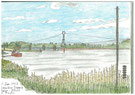 ドンゼール ローヌ川と水門