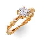 Solitär Ring in Rotgold mit Brillanten aus der Verlobungsring Kollektion Baby Gremlin der Goldschmiede OBSESSION Zürich und Wetzikon