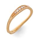 Alliance Ring in Rotgold mit Brillanten aus der Verlobungsring Kollektion Mermaid der Goldschmiede OBSESSION Zürich und Wetzikon