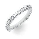 Alliance Ring in Weissgold mit Brillanten aus der Verlobungsring Kollektion Matrix der Goldschmiede OBSESSION Zürich und Wetzikon