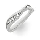 Alliance Ring in Weissgold mit Brillanten aus der Verlobungsring Kollektion Mermaid der Goldschmiede OBSESSION Zürich und Wetzikon