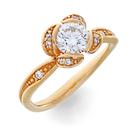 Solitär Ring in Rotgold mit Brillanten aus der Verlobungsring Kollektion Mermaid der Goldschmiede OBSESSION Zürich und Wetzikon
