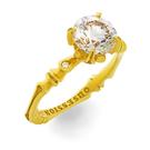 Solitär Ring in Gelbgold mit Brillanten aus der Verlobungsring Kollektion Baby Gremlin der Goldschmiede OBSESSION Zürich und Wetzikon