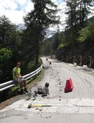 Lavori SS 26 della Valle d'Aosta Comune di La Thuile (AO)