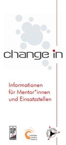 """Flyer change in """"Informationen für Mentoren und Einsatzstellen"""" - Freiwilligen-Zentrum Augsburg"""