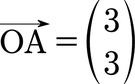 Ein Ortsvektor vom Ursprung zum Punkt