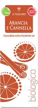 Extra dunkle Schokolade mit Orange und Zimt, Cioccolato Modicano, Cioccolato biologico siciliano cioccolato di modica