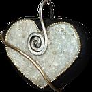 Les Galets de Lyzzz - galet coeur bijoux pendentif broche