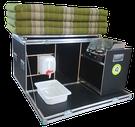 """iQ-Campingbox """"Mammut"""" mit faltbaren Windschutz, Kocher, 10 Liter Wasserkanister, Wasserauffangschale, Auslaufhahn und 130 cm Kapok Matratze"""