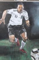 Lukas Podolski, Strassenmalerei Lydia Hitzfeld