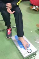 足指のつかむ力の測定