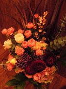 秋の花束。送別用に。