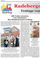 QR-Codierung von 44 Straßennamen in Radeberg, 1. Etappe.