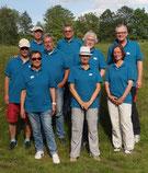Das LBC-Team in seiner grauen Oberbekleidung...