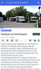 Promobil-App, Stellplatz am Eschholzpark