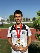 Dea Faedi, 1. Goldmedaille im Dreisprung