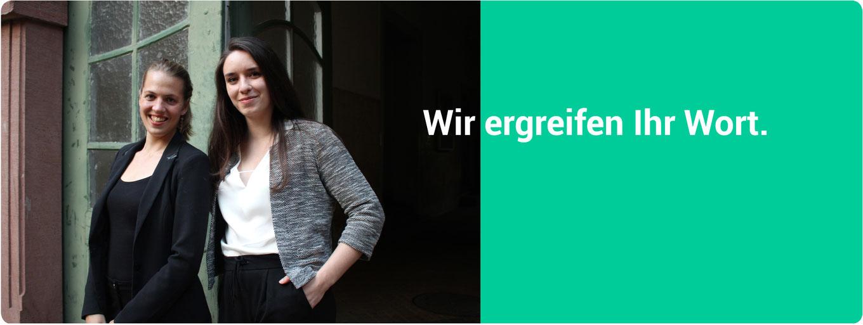 Julia Schulte und Marike Telgen. Konferenzdolmetscherinnen und Übersetzerinnen.