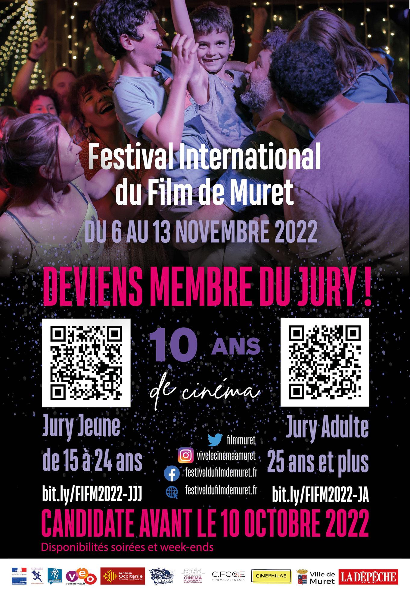 Devenez membre du Jury du Festival du Film de Muret