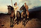 Winnetou I  (21) - Winnetou und Old Shatterhand reiten über die Prärie - neuen grossen Abenteuern entgegen
