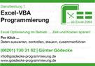 Visitenkarte Gödecke Programmierung | Excel-VBA-Programmierung