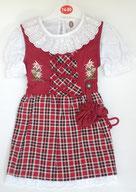 Kinder Trachtenkleid Karo Rot
