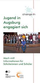 "Flyer change in ""Jugend in Augsburg engagiert sich"" - Freiwilligen-Zentrum Augsburg"
