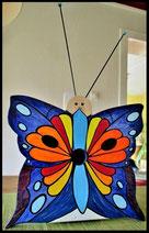 Houten nestkastjes - met toevoeging, Vlinder, bont