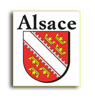 STICKERS IMMATRICULATION ALSACE