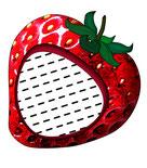 Erdbeere, Erdbeere Kissen, Erdbeerkissen, Namenskissen, Kinderkissen, Babykissen, Fotokissen, Tierkissen, Kuschelkissen, Erdbeergeschenk