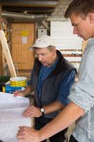 Holzelementbproduktion im Werk D. Vogt Holzbau GmbH Wangen SZ