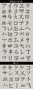 豊国文字 新字体