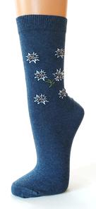 Socken mit Edelweiß Motiv