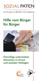 """Flyer Sozialpaten """"Hilfe vom Bürger für Bürger"""" - Freiwilligen-Zentrum Augsburg"""