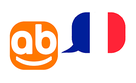 website's logo with a french flag.
