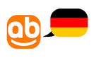 website's logo with a german flag.