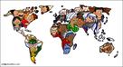 werelddelen, oceanen, wereldgodsdiensten, ...