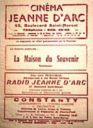 Programme cu cinéma Jeanne d'Arc