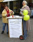 """Unterschriftensammlung Bürgerbegehren 2003 """"Cross-Border-Leasing"""""""
