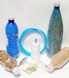 cilindro del Modello Extra da collegarsi alla Pompa Manuale Grande o ad una macchina o pompa per sottovuoto elettrica per fare il sottovuoto nelle bottiglie di plastica dell' acqua minerale