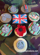 British Army cupcakes, Royal Green Jacket cupcakes, soldier cupcakes