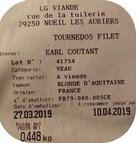 étiquette vente directe viande de boeuf Ferme COUTANT And COW à Mauléon 79
