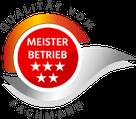 """Grafik: """"Siegel Qualität vom Fachmann - Meisterbetrieb"""" / FISCHER-ELEKTRO-ANLAGEN - Elektriker Innungsbetrieb im Großraum Hamburg"""