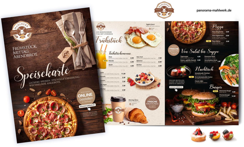 Flyer Design Pizzeria, Flyer Pizzeria, Flyer Design Bistro, Flyer Design Bäcker
