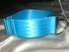 Zugstopp-Halsband eisblau 4 cm
