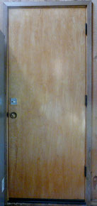 Door after deadbolt installation