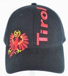 """Kappe """"Tirol"""" + Adler, schwarz"""