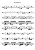 Drums sheet music Grooves