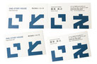 【名刺×建築業】より印象に残る名刺にしたいとのご要望にお応えし、シンプルだけど遊び心のあるデザインをご提案しました。用紙は、メンコを意識し、厚みのある用紙を採用しました。〔55×91mm/スノーブル〕