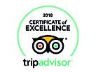 TripAdvisor certificate d'excellence 2018