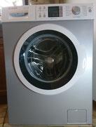 Waschmaschine mit Folie verschönert.